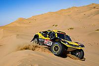 5th January 2020, Jeddah, Saudi Arabia;  322 Han Wei chn, Liao Min chn, 2WD, Geely Auto Shell Lubricant Team during Stage 1 of the Dakar 2020 between Jeddah and Al Wajh, 752 km  - Editorial Use