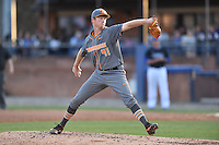 Tennessee Volunteers starting pitcher Eric Freeman (41) delivers a pitch during a game against the UNC Asheville Bulldogs at McCormick Field on March 15, 2016 in Asheville, North Carolina. The Volunteers defeated the Bull Dogs 7-3. (Tony Farlow/Four Seam Images)