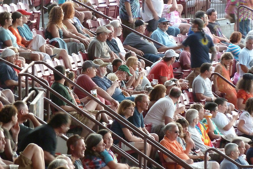 Fans in the Bleachers. Furthur Band at McCoy Stadium, Pawtucket RI on 5 July 2012