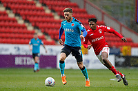 Wes Burns of Fleetwood Town dribbles during the Sky Bet League 1 match between Charlton Athletic and Fleetwood Town at The Valley, London, England on 17 March 2018. Photo by Carlton Myrie.