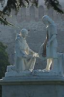 Statue in Vatican's garden, Rome, Italy