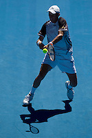 Nikolay Davydenko (RUS) (6) against Fernando Verdasco (ESP) (9) in the Fourth Round of the Mens Singles, Davydenko beat Verdasco 6-2 7-5 4-6 6-7 6-3..International Tennis - Australian Open Tennis - Monday 25 Jan 2010 - Melbourne Park - Melbourne - Australia ..© Frey - AMN Images, 1st Floor, Barry House, 20-22 Worple Road, London, SW19 4DH.Tel - +44 20 8947 0100.mfrey@advantagemedianet.com