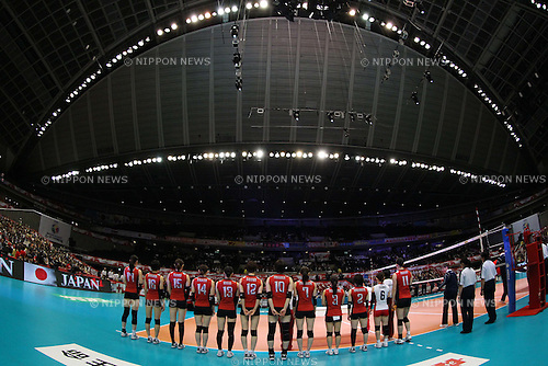 Japan Women's National team group, .MAY 22, 2012 - Volleyball : .FIVB Women's World Olympic Qualification Tournament .for the London Olympics 2012 .between Japan 3-0 Thailand .at Tokyo Metropolitan Gymnasium, Tokyo, Japan. .(Photo by YUTAKA/AFLO SPORT) [1040]