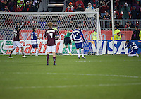 21 November 2010: Colorado Rapids defender/midfielder Pablo Mastroeni #25 celebrates the winning goal by Colorado Rapids midfielder/forward Macoumba Kandji #10 as FC Dallas defender George John #14 can't believe what just happened during the 2010 MLS CUP between the Colorado Rapids and FC Dallas at BMO Field in Toronto, Ontario Canada..The Colorado Rapids won 2-1 in extra time....