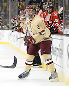 Brian Dumoulin (BC - 2) - The Boston College Eagles defeated the Northeastern University Huskies 7-1 in the opening round of the 2012 Beanpot on Monday, February 6, 2012, at TD Garden in Boston, Massachusetts.
