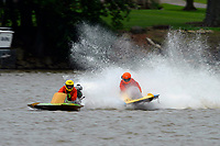 Frame 8: 300-P comes together with 911-Q, turns away and then is ejected from the boat.   (Outboard Hydroplanes)
