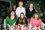 A home coming dinner at Finnegans on Saturday night. Front l-r  Helen O'Connor, Bristol, Grace Stepaniuk, Bristol and Sharon Horan, Carrigaline, Back l-r  Eileen O'Connor, Balloonagh and Trish Gregory, Australia