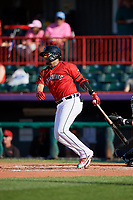 Erie SeaWolves Isaac Paredes (18) at bat during an Eastern League game against the Richmond Flying Squirrels on August 28, 2019 at UPMC Park in Erie, Pennsylvania.  Richmond defeated Erie 6-4 in the first game of a doubleheader.  (Mike Janes/Four Seam Images)