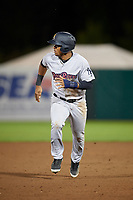 Scranton/Wilkes-Barre RailRiders second baseman Abiatal Avelino (17) runs the bases during a game against the Syracuse Chiefs on June 14, 2018 at NBT Bank Stadium in Syracuse, New York.  Scranton/Wilkes-Barre defeated Syracuse 9-5.  (Mike Janes/Four Seam Images)