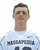 Justin Lynskey of Massapequa poses for a portrait before a non-league varsity boys lacrosse game at Burns Park on Saturday, Mar. 26, 2016.