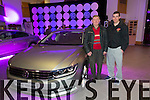 Nick Greaney and Shane McAuliffe looking over the  New VW Passat Variant at the Launch  in Devanes of Castleisland on Friday