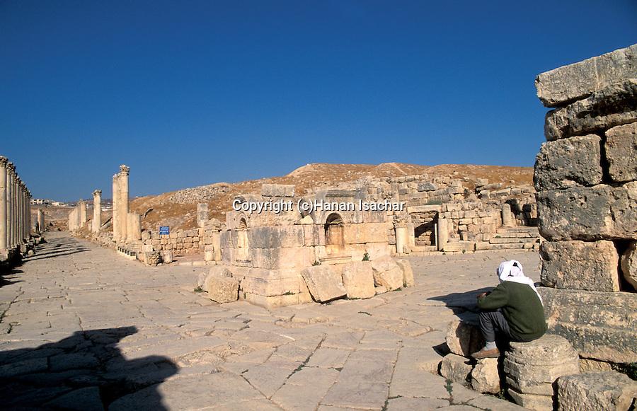 Jordan, Jerash. The South Tetrakionia&#xA;<br />