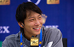 SHANGHAI, CHINA - OCTOBER 12:  Yan Bai of China attends a press conference after winning his match during day two of the 2010 Shanghai Rolex Masters at the Shanghai Qi Zhong Tennis Center on October 12, 2010 in Shanghai, China.  (Photo by Victor Fraile/The Power of Sport Images) *** Local Caption *** Yan Bai