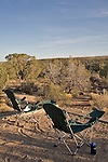U.S.A., Southwest America, Utah, Hovenweep National Monument, campground, lawnchairs,