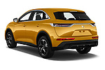 Car pictures of rear three quarter view of a 2018 DS DS7 Crossback Be Chic 5 Door SUV angular rear