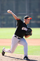 Andrew Reichard, San Francisco Giants 2010 minor league spring training..Photo by:  Bill Mitchell/Four Seam Images.