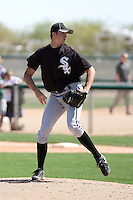 Jacob Petricka #31 of the Chicago White Sox plays in a minor league spring training game against the Cleveland Indians at the White Sox complex on March 24, 2011  in Glendale, Arizona. .Photo by:  Bill Mitchell/Four Seam Images.