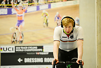 Picture by SWpix.com - 01/03/2018 - Cycling - 2018 UCI Track Cycling World Championships, Day 2 - Omnisport, Apeldoorn, Netherlands - Joachim Eilers of Germany warms up