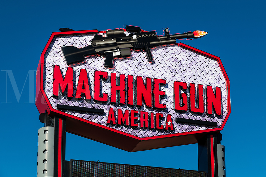 Machine Gun America  shooting range attraction, Kissimmee, Florida, USA.