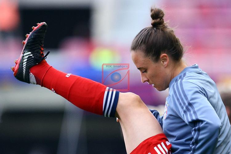 UEFA Women's Champions League 2018/2019.<br /> Semi Finals<br /> FC Barcelona vs FC Bayern Munchen: 1-0.<br /> Gina Lewandoswki.