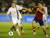 Spain's Illarramendi (r) and Norway's Svensson during international sub21 match.March 21,2013. (ALTERPHOTOS/Acero) /NortePhoto