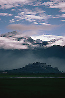 A distant view of the Potala Palace, Lhasa.