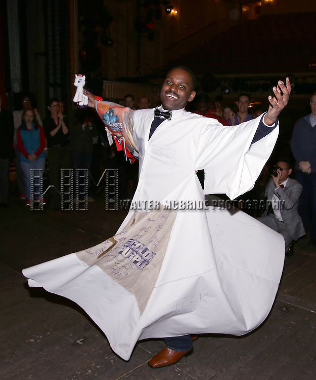 during the Actors' Equity Opening Night Gypsy Robe Ceremony honoring Arbender Robinson for 'Shuffle Along' at The Music Box Theatre on April 28, 2016 in New York City.