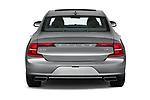 Straight rear view of 2018 Volvo S90 Inscription 4 Door Sedan Rear View  stock images