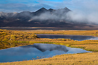 Tundra pond and Endicott Mountains of the Brooks Range, Arctic, Alaska.