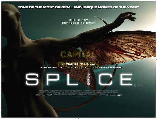 POSTER ART<br /> in Splice (2009) <br /> *Filmstill - Editorial Use Only*<br /> CAP/NFS<br /> Image supplied by Capital Pictures