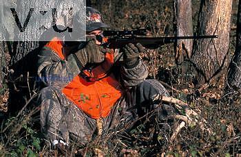 A hunter hunting