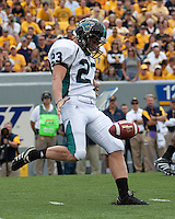 September 4, 2010: Coastal Carolina punter Ben Erdman. The West Virginia Mountaineers defeated the Coastal Carolina Chanticleers 31-0 on September 4, 2010 at Mountaineer Field, Morgantown, West Virginia.