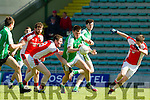 Jack Berry St Brendans in action against Daniel O'Sullivan Rathmore in the  Kerry County Football Championship on Saturday.