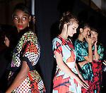 Clover Canyon at New York fashion week 2014.<br /> <br /> Ben Sklar