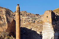 Ayyubid El Rizk Mosque ancinet citadel & Artukid Little Palace of Hasankeyf– The Mosque was built in 1409 by the Ayyubid sultan Süleyman and stands on the bank of the Tigris River. It has Kufic incriptions & decorations. Turkey 3