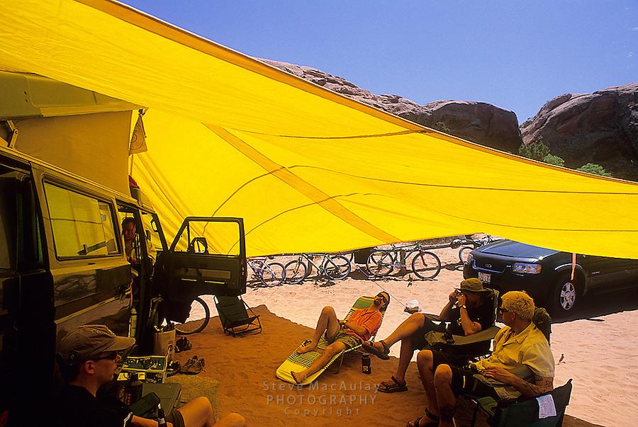 Hanging out at SandFlats Campground, Moab, Utah