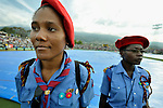 Haitian girl scouts.
