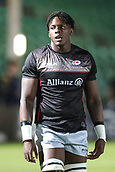 29th September 2017, Sixways Stadium, Worcester, England; Aviva Premiership Rugby, Worcester Warriors versus Saracens; Maro Itoje of Saracens warms-up prior to the match