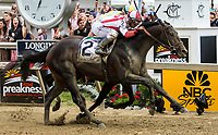 BALTIMORE, MD - MAY 20: Cloud Computing  #2, ridden by Javier Castellano, the 142nd Preakness Stakes ahead of Classic Empire  #5, ridden by Julien Leparoux, on Preakness Stakes Day at Pimlico Race Course on May 20, 2017 in Baltimore, Maryland. (Photo by Sue Kawczynski/Eclipse Sportswire/Getty Images)