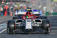 March 16, 2019: Antonio Giovinazzi (ITA) #99 from the Alfa Romeo Racing team leaves the pit to start the qualification session at the 2019 Australian Formula One Grand Prix at Albert Park, Melbourne, Australia. Photo Sydney Low