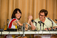 Battle of the Sexes (2017)   <br /> Emma Stone, Steve Carell<br /> *Filmstill - Editorial Use Only*<br /> CAP/KFS<br /> Image supplied by Capital Pictures