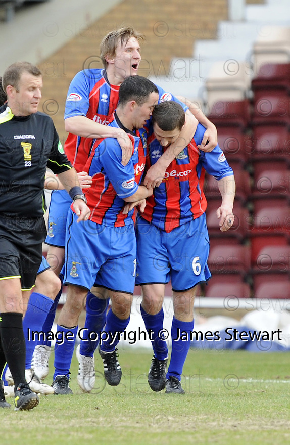 05/04/2008    Copyright Pic: James Stewart.File Name : sct_jspa16_gretna_v_inverness.ROY MCBAIN IS CONGRATULATED....James Stewart Photo Agency 19 Carronlea Drive, Falkirk. FK2 8DN      Vat Reg No. 607 6932 25.Studio      : +44 (0)1324 611191 .Mobile      : +44 (0)7721 416997.E-mail  :  jim@jspa.co.uk.If you require further information then contact Jim Stewart on any of the numbers above........
