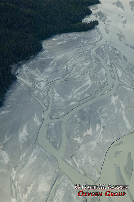 Yukon Scenic Aerial With River