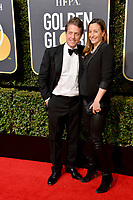 Hugh Grant & Anna Eberstein at the 75th Annual Golden Globe Awards at the Beverly Hilton Hotel, Beverly Hills, USA 07 Jan. 2018<br /> Picture: Paul Smith/Featureflash/SilverHub 0208 004 5359 sales@silverhubmedia.com