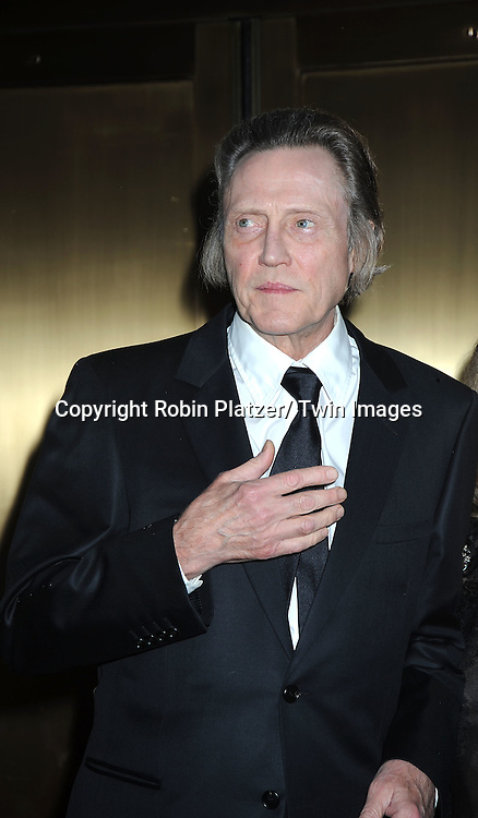 Christopher Walken arriving at The 61st Annual Tony Awards on June 13, 2010 at Radio City Music Hall in New York City.