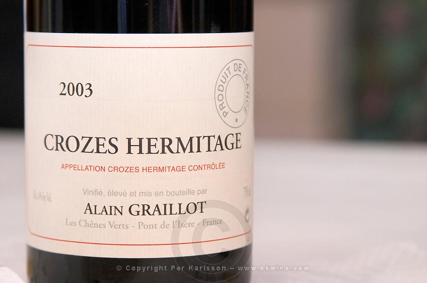 crozes hermitage 2003 domaine alain graillot rhone france
