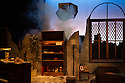 London, UK. 17.07.2014. Mountview Academy of Theatre Arts presents THE HOUSE OF BLUE LEAVES, by John Guare, directed by Jacqui Somerville, at the Unicorn Theatre, as part of the Postgraduate Season 2014. Picture shows: The Explosion. Photograph © Jane Hobson.