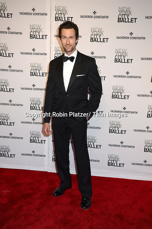 Aaron Lazar attends the New York City Ballet Spring 2014 Gala on May 8, 2014 at David Koch Theatre in Lincoln Center in New York City, NY, USA.