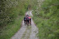 Team Trek-Segafredo during their 2017 Paris-Roubaix recon, 3 days prior to the event.