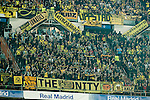 Borussia Dortmund supporters during Champions League match between Real Madrid and Borussia Dortmund  at Santiago Bernabeu Stadium in Madrid , Spain. December 07, 2016. (ALTERPHOTOS/Rodrigo Jimenez)